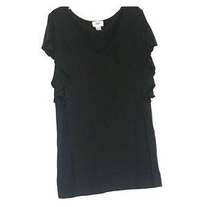 Old Navy Black Short Sleeve Shirt Large
